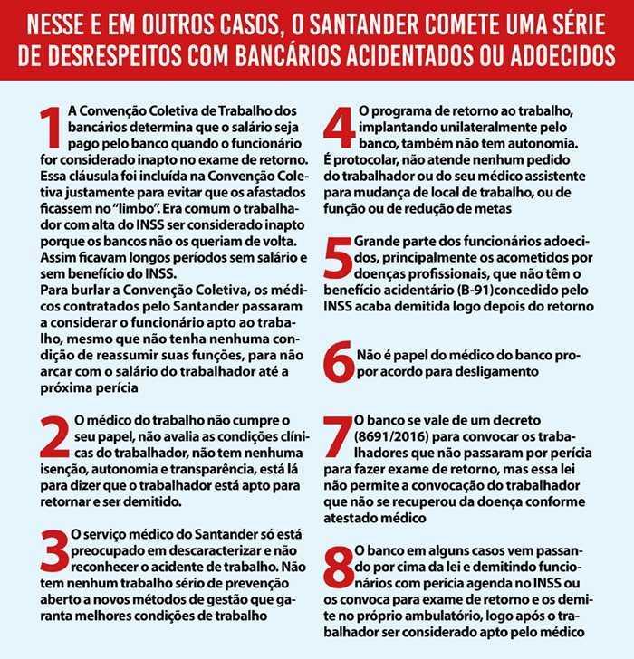 Santander DEMITE mais uma Bancária DOENTE