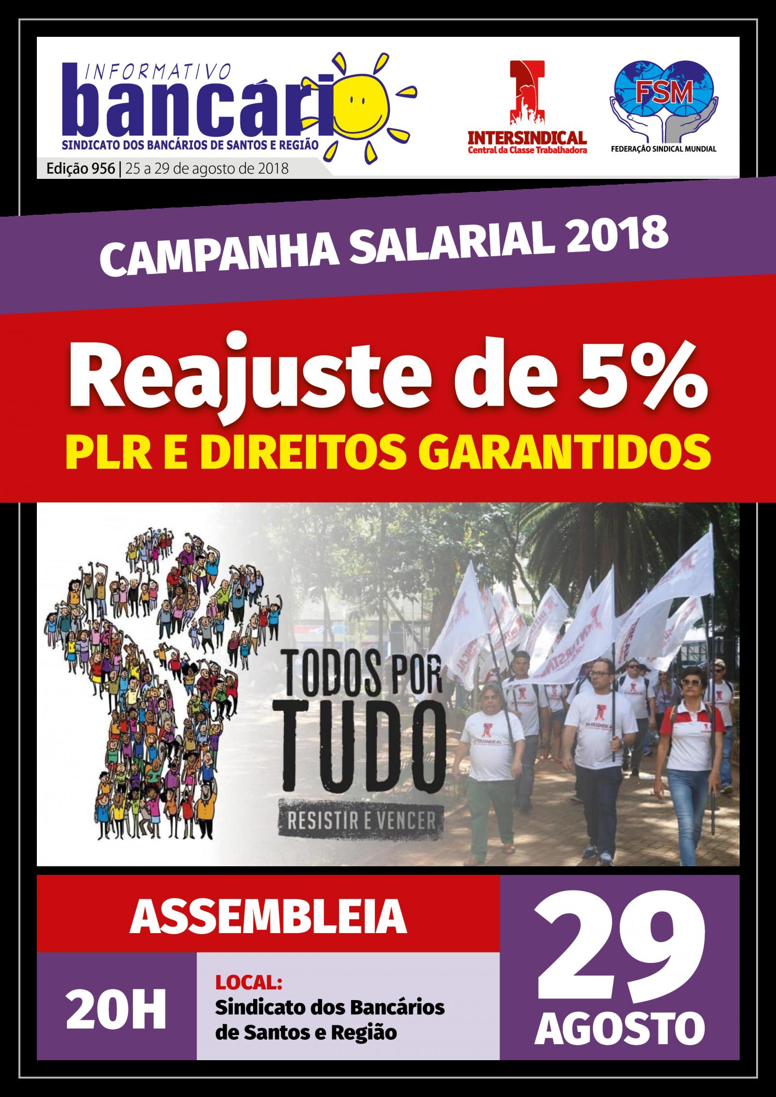 Reajuste de 5% PLR e Direitos Garantidos