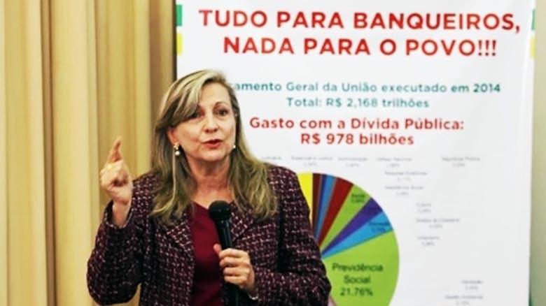 """""""Bancos são responsáveis pela crise"""", diz Maria Lúcia Fattorelli"""