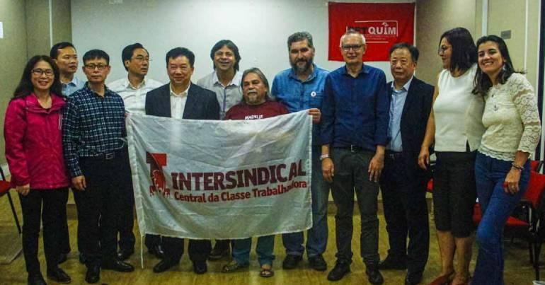 Intersindical recebe sindicalistas chineses