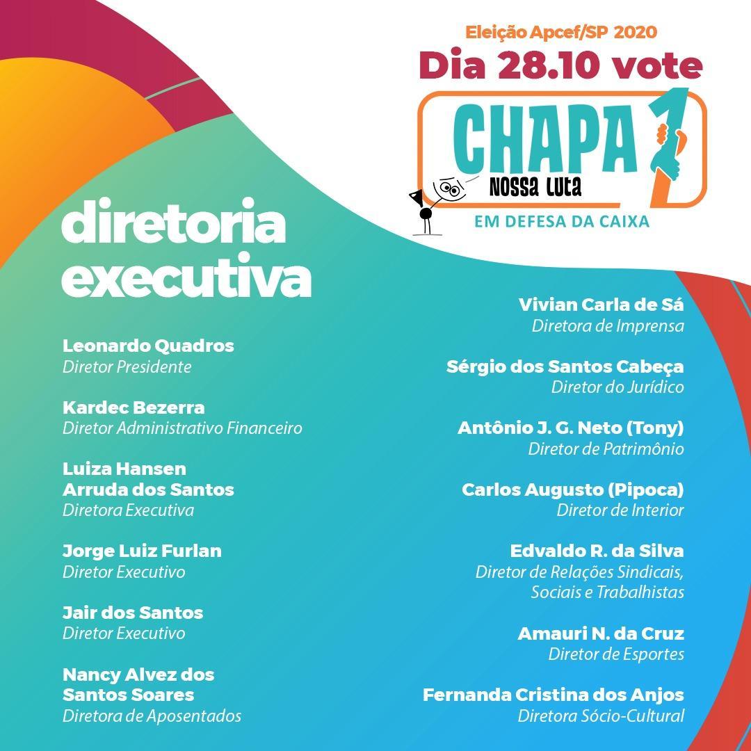 """Eleição Apcef: Sindicato apoia """"Chapa 1 Nossa Luta"""", dia 28/10"""