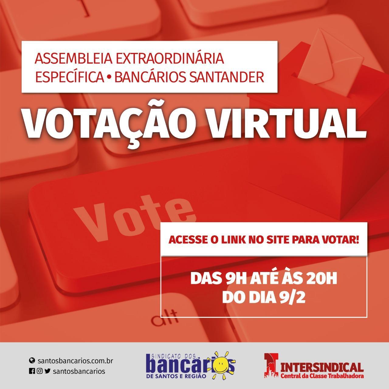 Santander: assembleia dos funcionários prorrogação de banco de horas