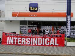 Bancários paralisam agências em Santos e S.Vicente, nesta  segunda-feira, 18
