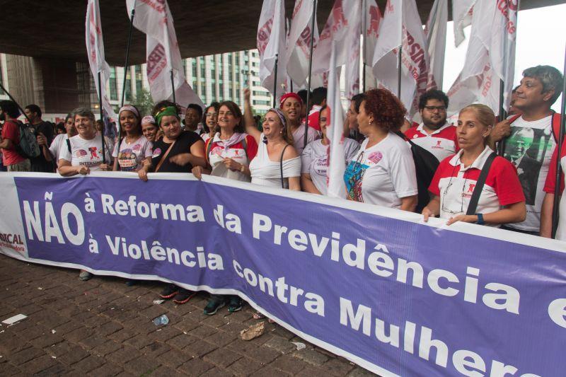 Sindicato participa de Ato das Mulheres em São Paulo (8/3)