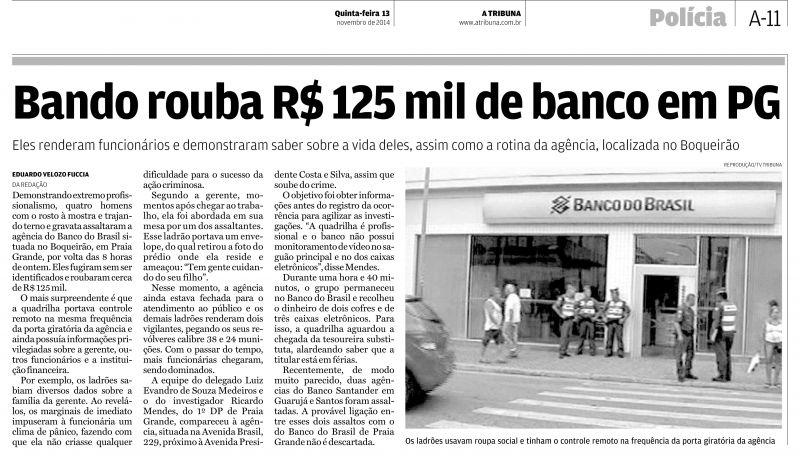 Sindicato dos Bancários cobra emissão da CAT após assalto em agência do BB